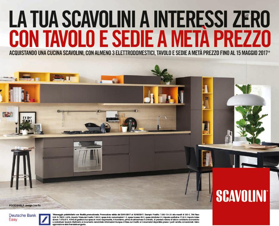 Promozione Scavolini, tutto a metà prezzo. | Castaldo Arredamenti